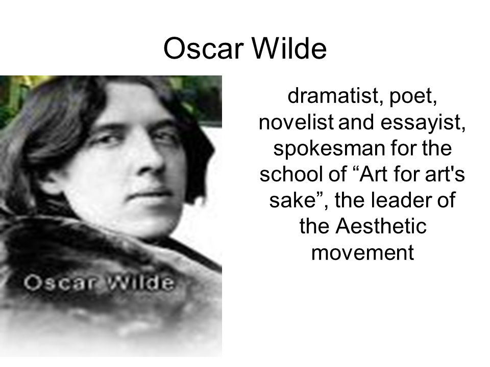 oscar wilde writing advice for college