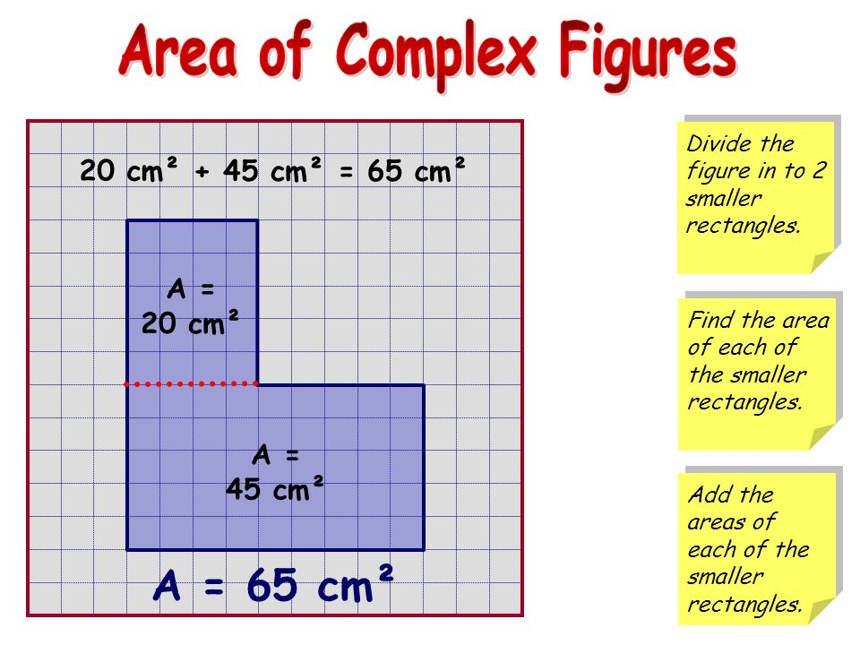 Area of Complex Figures - ppt download