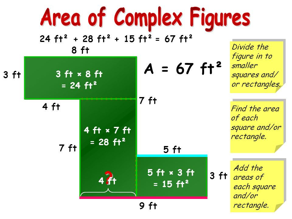 how to find the area of a complex figure