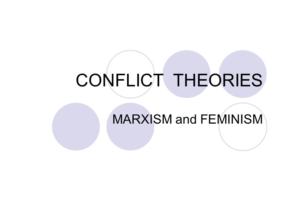 marxism conflict theory Karl marx is the father of the social conflict theory, which is a component of the four paradigms of sociology in conflict theory, deviant behaviors are actions that do not comply with social institutions.