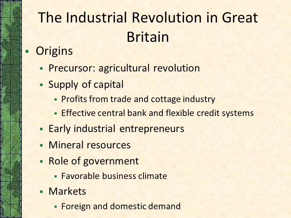 Life in Great Britain during the Industrial Revolution