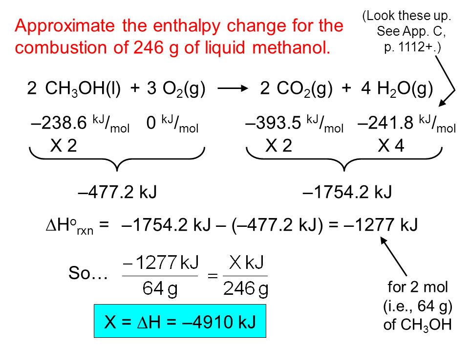 enthalpy change Enthalpy changes are calculated using hess's law: if a process can be written as the sum of several steps, the enthalpy change of the process equals the sum of the enthalpy changes of the individual steps.