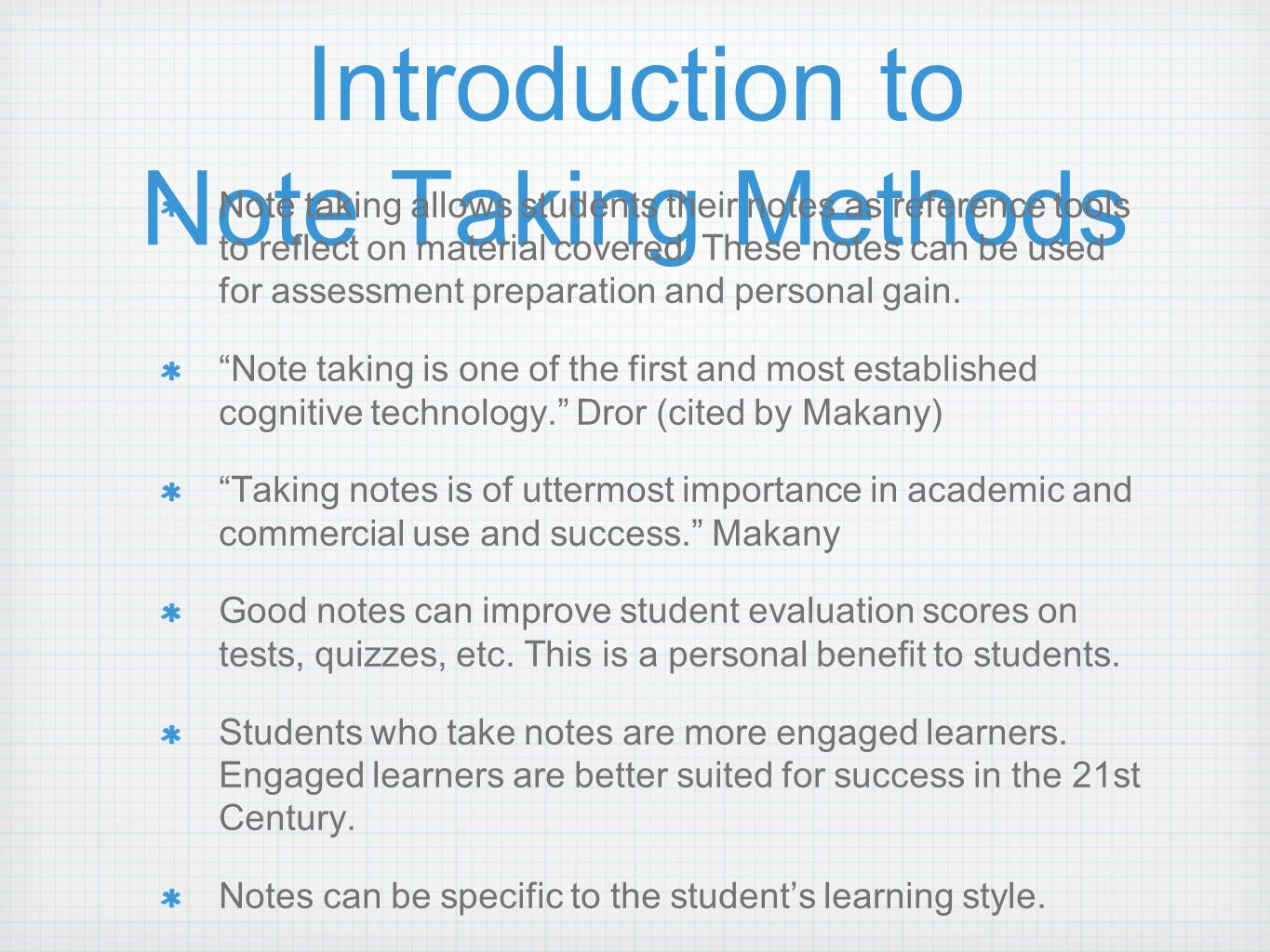 notes on the importance of first Many times note taking is one of the most difficult things for a student to do  effectively it can be difficult for students to know what to write down, what is  important or pertinent information, or how to structure  hours of first taking the  notes.