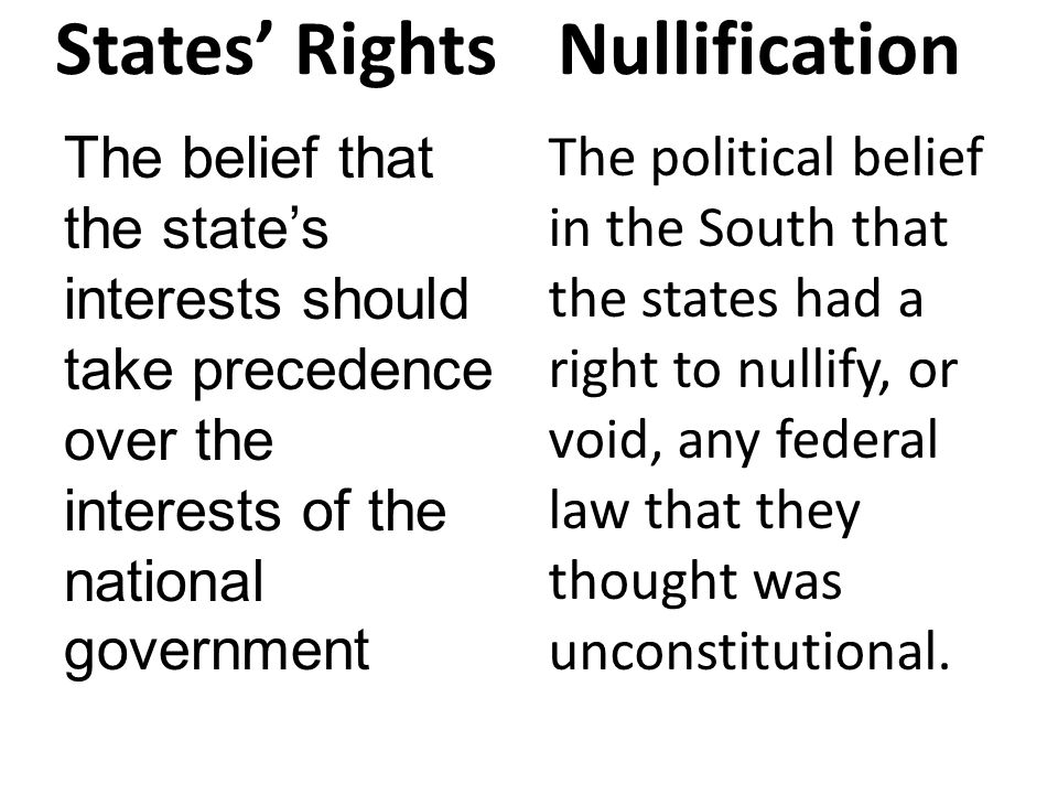 states rights v nationalism essay However the strong nationalism was also simply a way to disguise the countries deep divisions the deeper divisions were the constant dispute of whether america should have a strong central government concerned with economic development or whether the nation should remain an overall decentralized power that gave a lot of authority to the states and the people.