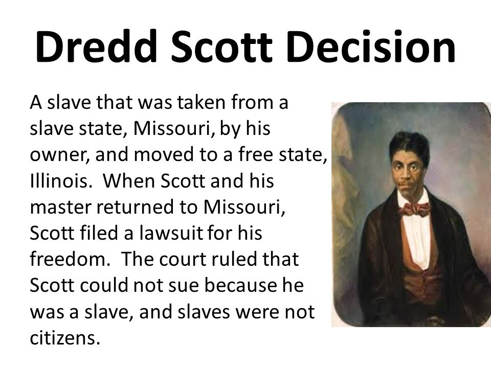 History - Dred Scott decision, Essay