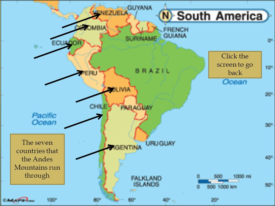Andes Mountains By Xxxxxxx Ppt Video Online Download: South America Andes Mountains Map At Usa Maps