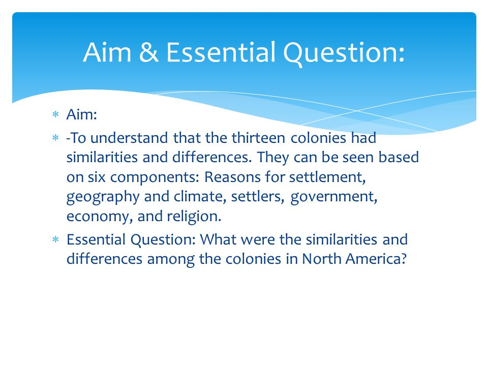 Colonial Development Similarities And Difference : Colonial life ppt video online download