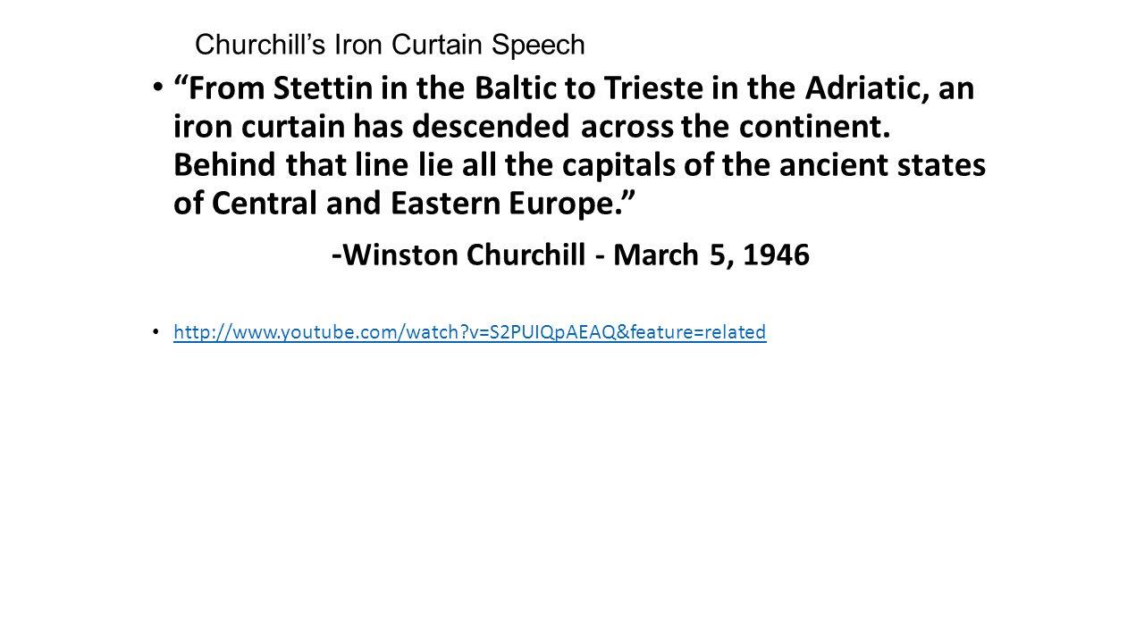 Churchill iron curtain speech cartoon - Churchill S Iron Curtain Speech