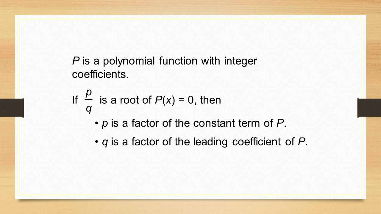 Graphing quadratic functions in standard form ppt video online p is a polynomial function with integer coefficients falaconquin