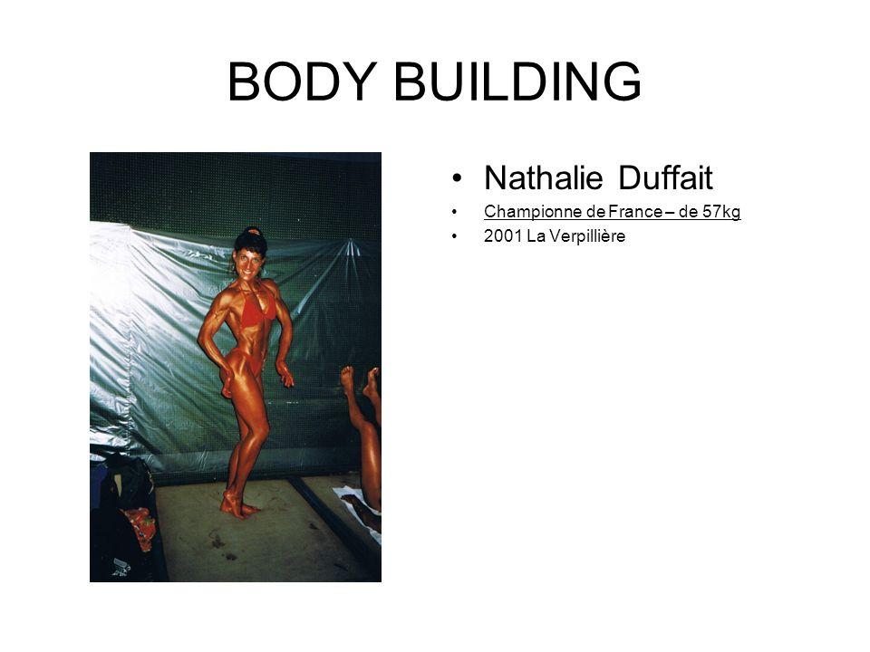 BODY BUILDING Nathalie Duffait Championne de France – de 57kg