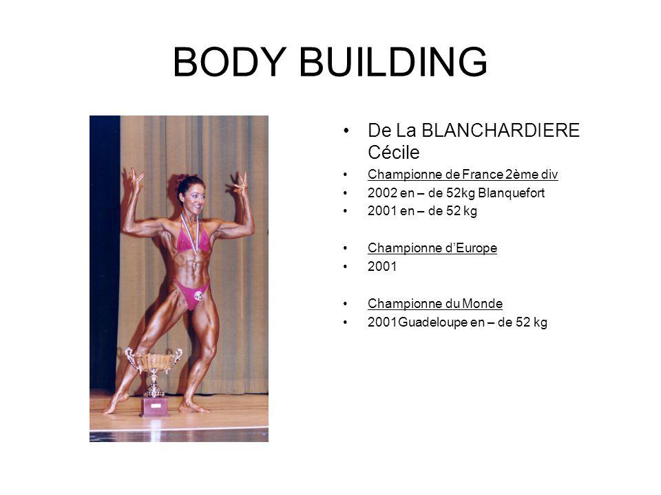 BODY BUILDING De La BLANCHARDIERE Cécile Championne de France 2ème div