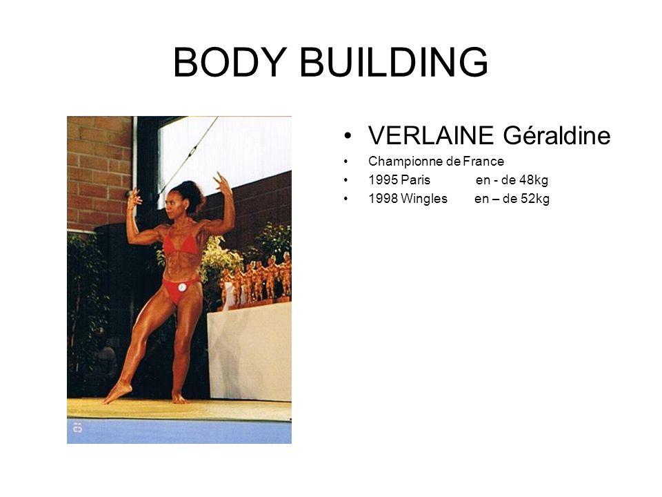 BODY BUILDING VERLAINE Géraldine Championne de France