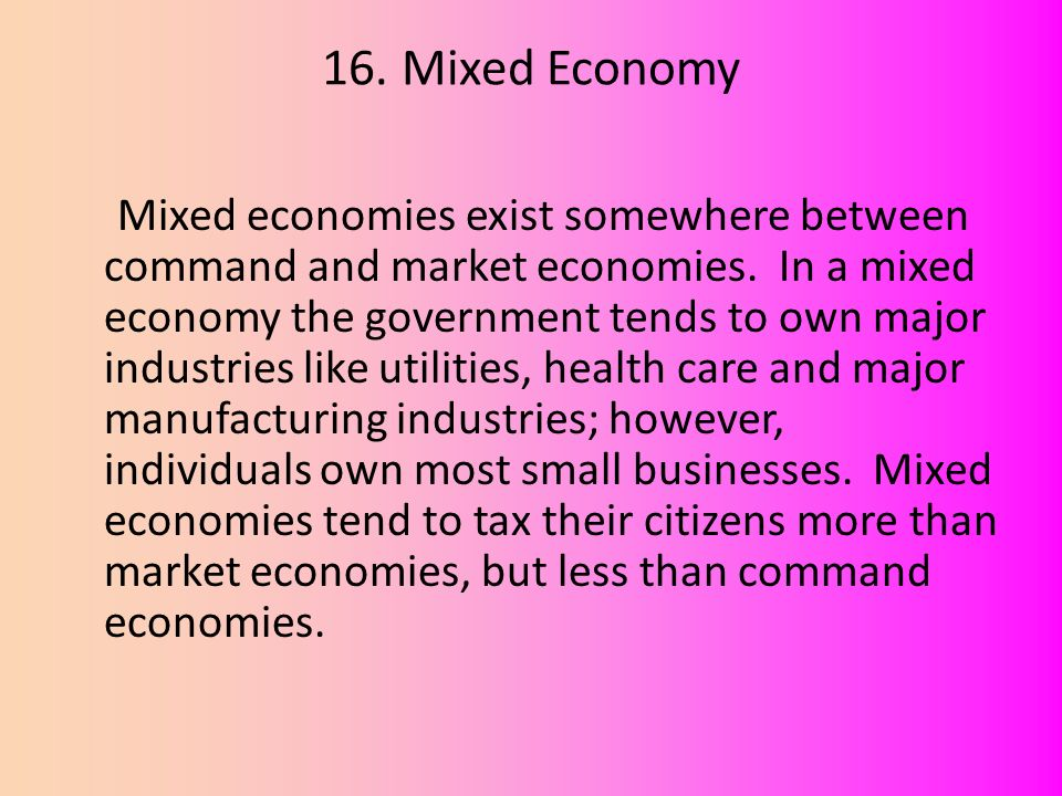economic mixed and market economy essay Mixed economy refers to the market economy where both private and public enterprises participate in economic activity eg us have a mixed economy since both private and government businesses play important roles.