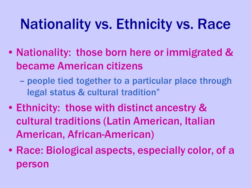 race vs ethnicity Ethnicity and race definitions the college is mandated to ask for ethnicity and race information in a two part question all students, faculty and staff to whom these questions are posed.