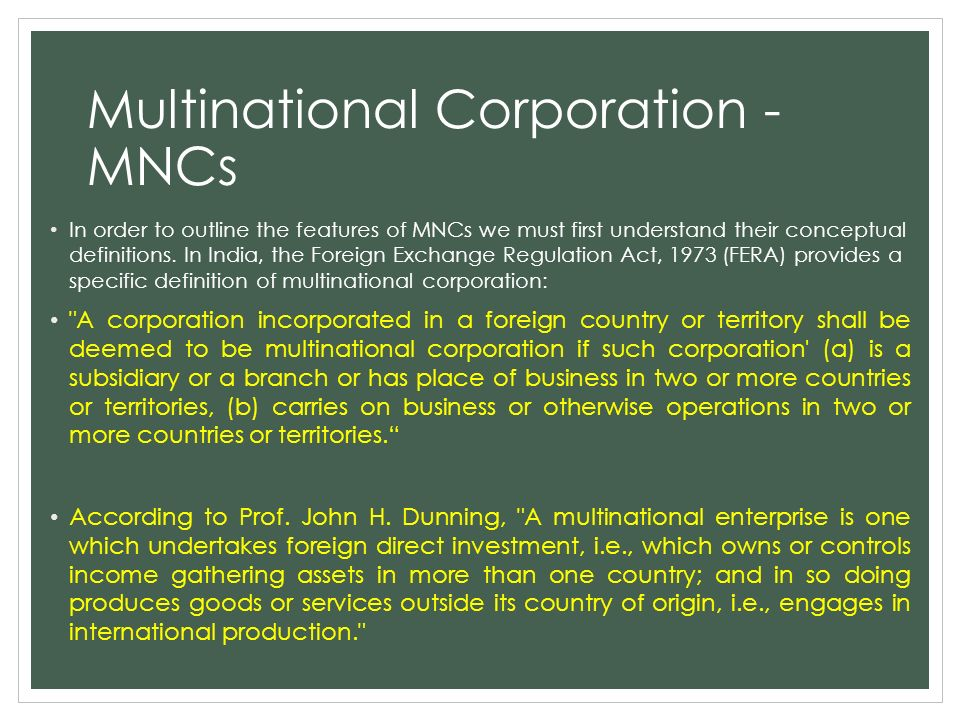 multinational corporations mncs essay Multinational corporations (mncs), in their effort of globalisation normally face complexity that caused by multiculturalism and geographic dispersion.