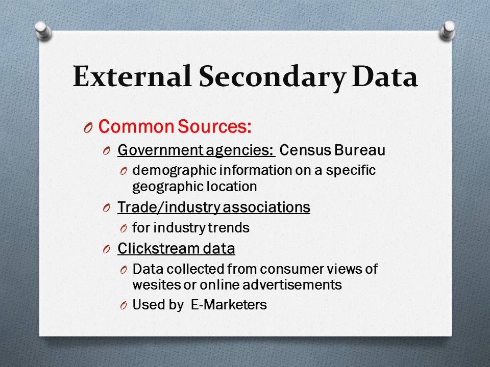 External secondary research
