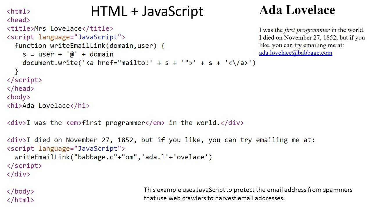 javascript write Note: documentwrite in deferred or asynchronous scripts will be ignored, and you'll get a message like a call to documentwrite() from an asynchronously-loaded external script was ignored in the error console.