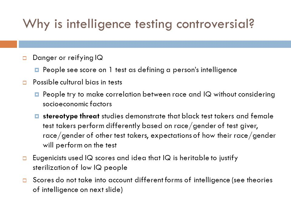 a statement on why iq tests do not test intelligence of a person It will come as a relief to those who failed to shine when taking an iq test  iq tests simply do not  intelligence' the majority of iq tests were.