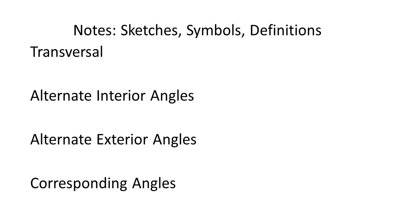 Geometry unit 2 october textbook chs 1 2 ppt video - Alternate interior exterior angles ...
