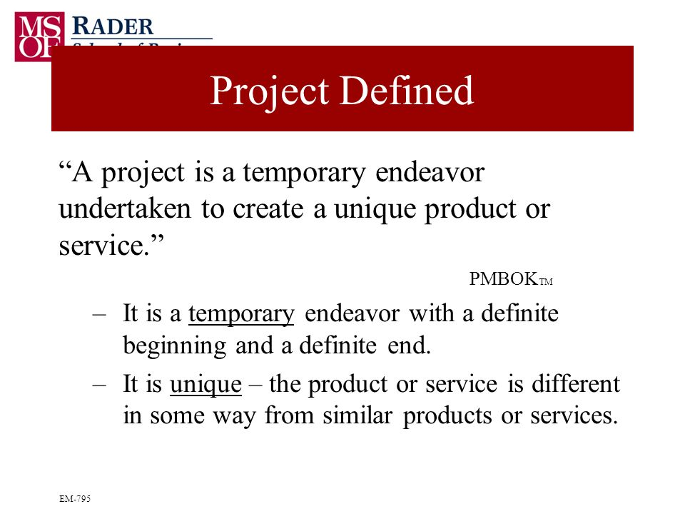 a is a temporary endeavor undertaken to create a unique product service or A project is a temporary endeavor undertaken to create a unique product, service , or result the temporary nature of projects indicates that a project has a.