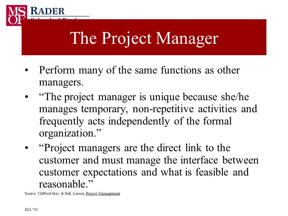 larson gray project management answers Connect: a highly reliable, easy-to-use homework and learning management solution that embeds learning science and award-winning adaptive tools to improve student results - project management: the managerial process is distinguished by its balanced treatment of both the technical and behavioral issues in project.