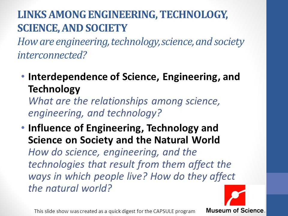 relationship among science technology and society