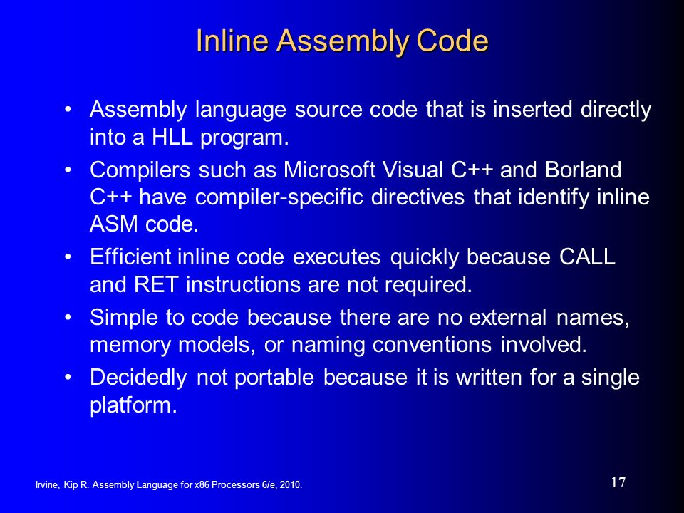writing assembly code for x86 platform