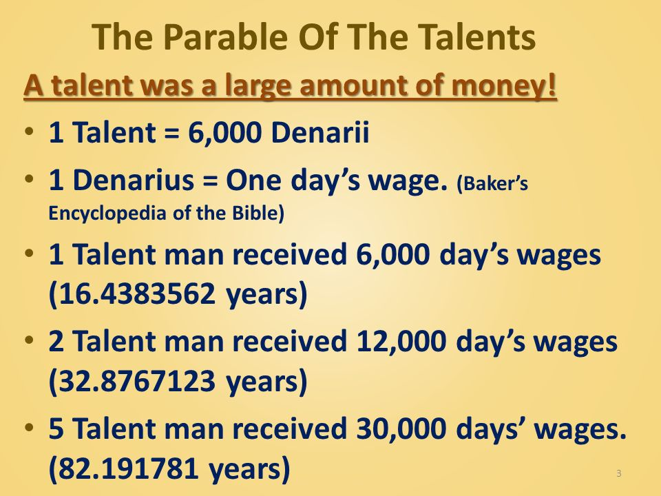the parable of the talents in the book of matthew Matthew 25, the twenty-fifth chapter of the gospel of matthew, consists of three parables of jesus: parable of the ten virgins (25:1-13) parable of the talents or minas (25:14–30.