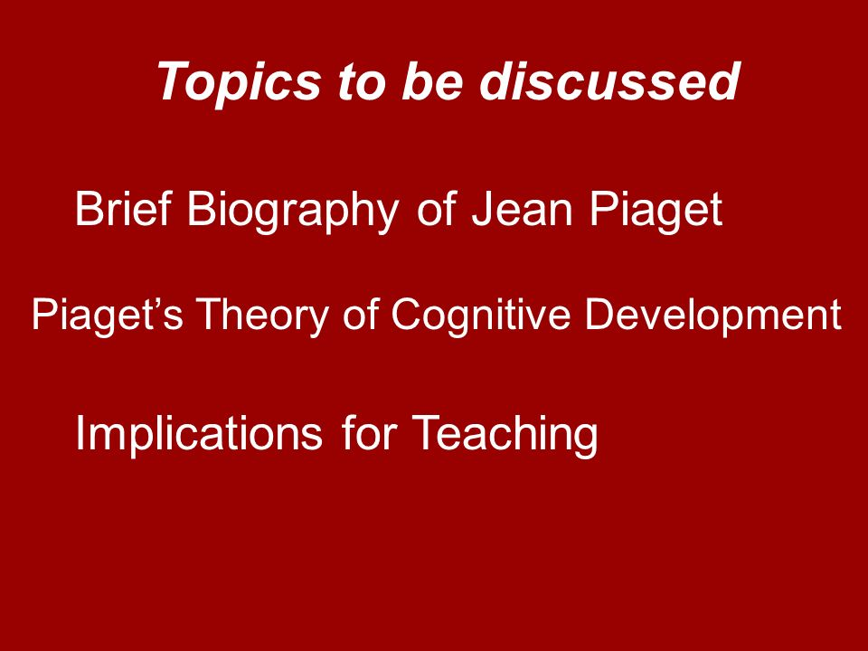 a short biography of jean piaget Jean piaget - bibliography jean piaget - biography  jean piaget - bibliography  short there after he published a short piece at the age of 10.