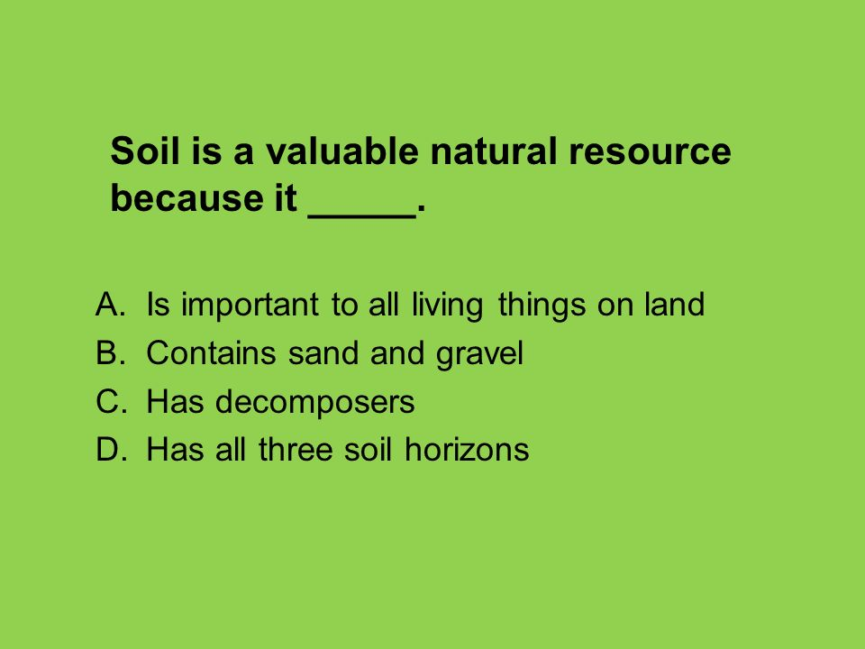 Unit 3 weathering erosion review ppt video online for What is important to know about soil layers