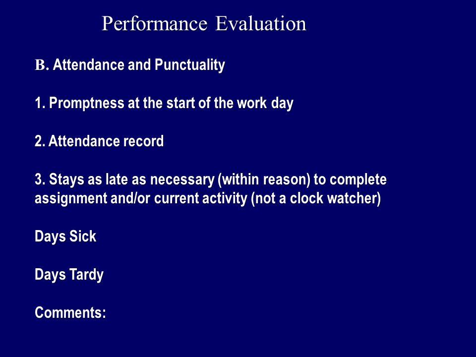 work performance evaluation