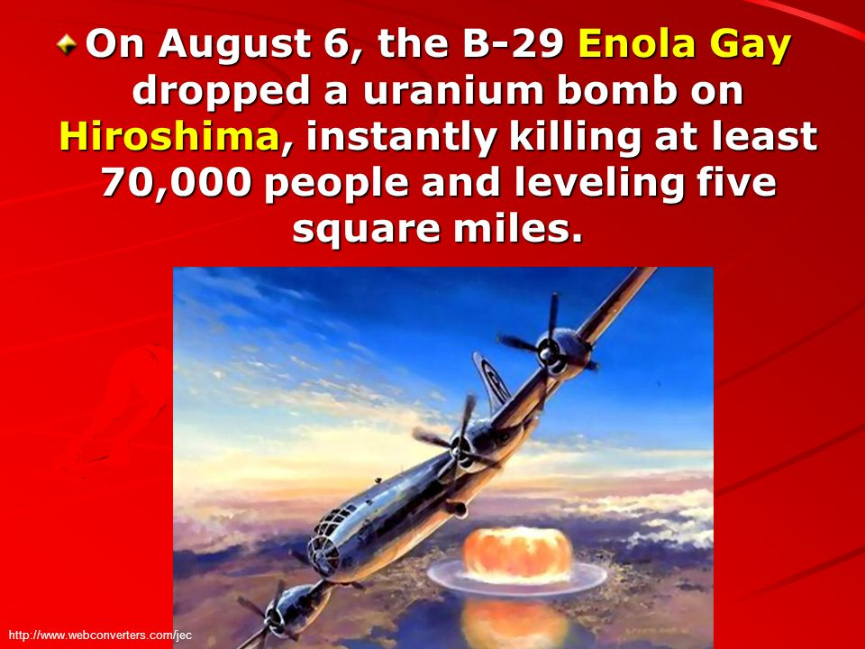 a history of the atomic bomb and how it changed the world as we know it He promptly announced to the world the existence of an atomic bomb  'when we last saw it, it had changed  historynetcom is brought to you by world history.