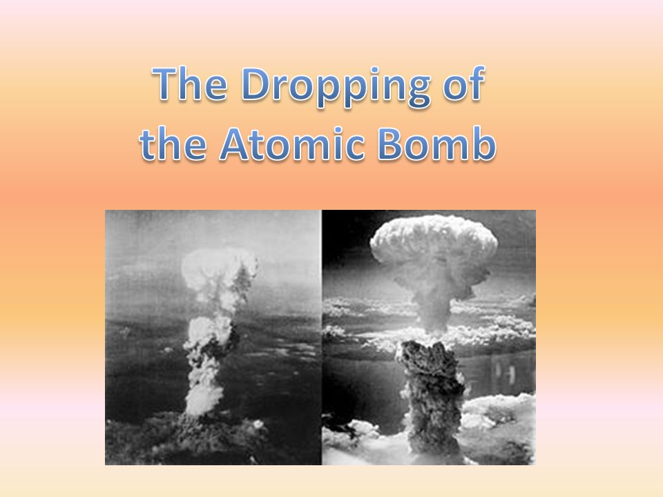 an analysis of the atomic bomb Write arguments to support claims in an analysis of substantive topics or texts, using valid reasoning and relevant and sufficient evidence materials manila folders or large brown envelopes atomic bomb aftermath in japan that emerged from their re.