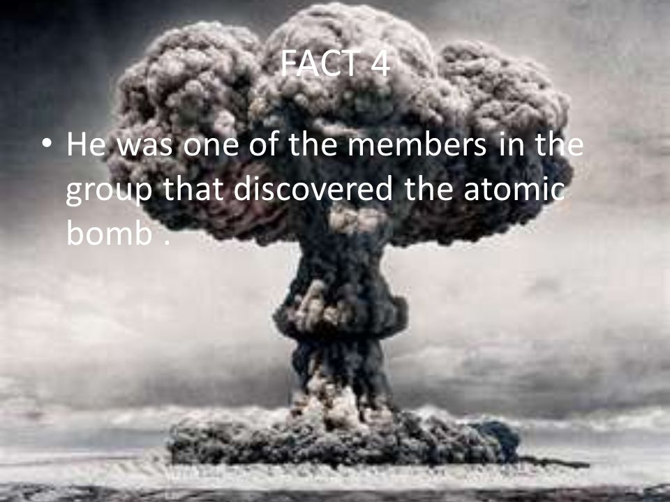 the discovery of atomic bomb Tomorrow is 70 years since the united states dropped a devastating atomic bomb on hiroshima, japan august 9th will mark the 70th anniversary of the bomb dropped on nagasaki august 15th is the 70th anniversary of v-j day and the end of world war ii students can examine the facts of these events in.