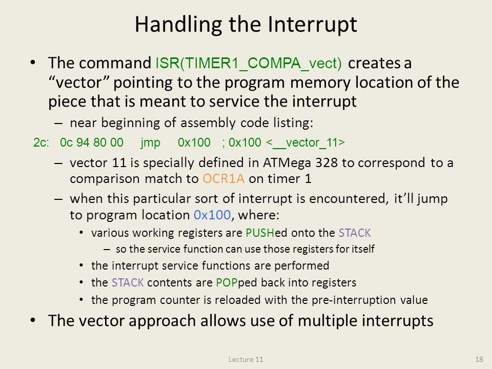 Handling the Interrupt