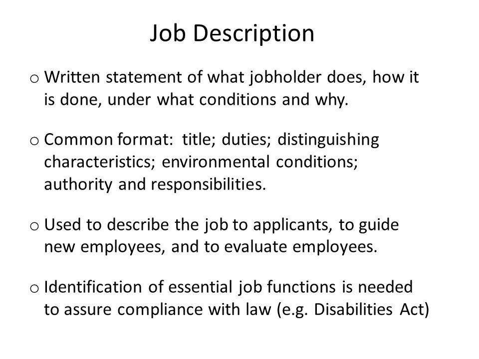Chapter 6 selection and assessment ppt download - Legal compliance officer job description ...