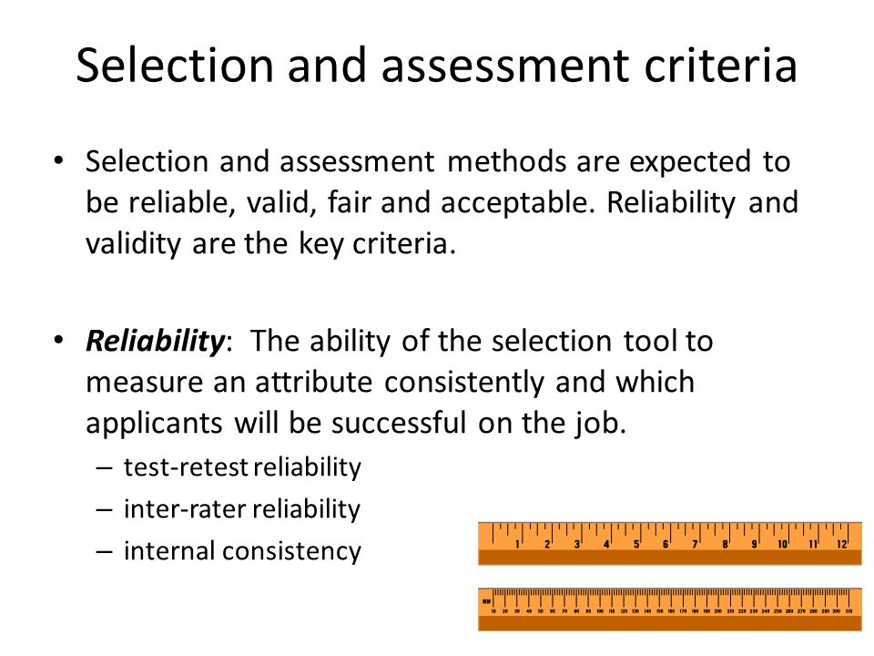 a description of the validity of assessment and reliability of assessment Executive summary reliability and validity exam to comply with the following new exam description and the 2010 reliability and validity (r&v) assessment of.