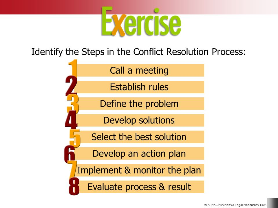 a description of the conflict process 7 training module on conflict management definition of conflict management differences are inevitable in a local group having members with different experiences, attitudes and expectations.