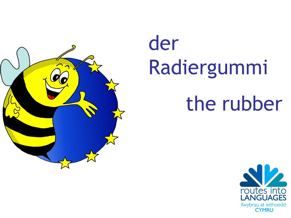 der Radiergummi the rubber