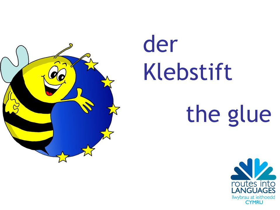 der Klebstift the glue