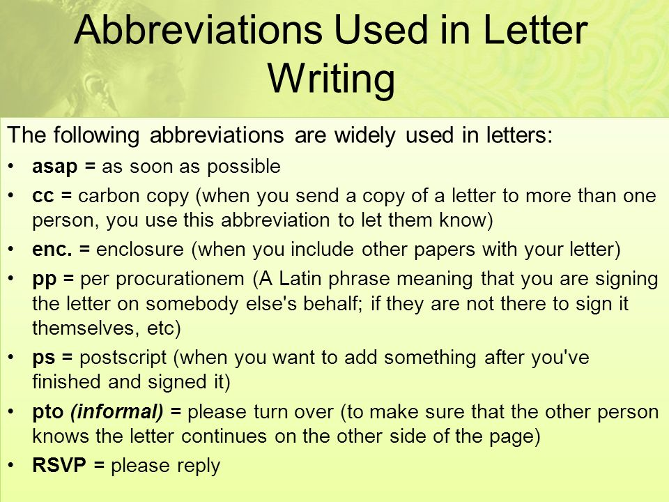 How to write formal letters ppt video online download abbreviations used in letter writing spiritdancerdesigns Choice Image