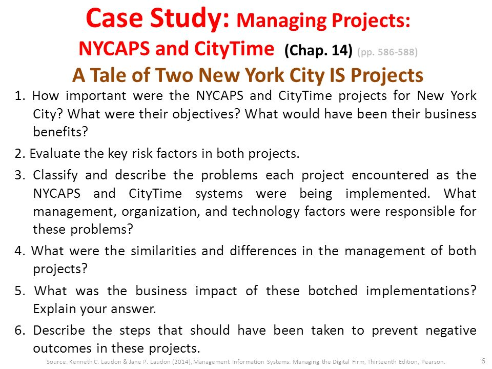 case study nycaps Each video case consists of a video about a real-world company, a background text case, and case study questions these video cases enhance students' understanding of mis topics and the relevance of mis to the business world.