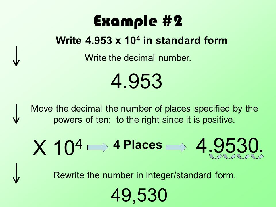 Scientific Notation With Positive Powers Of Ppt Download