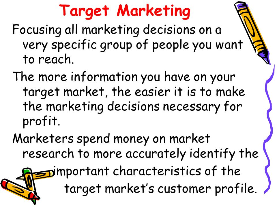 how to identify target market and prepare customer profile