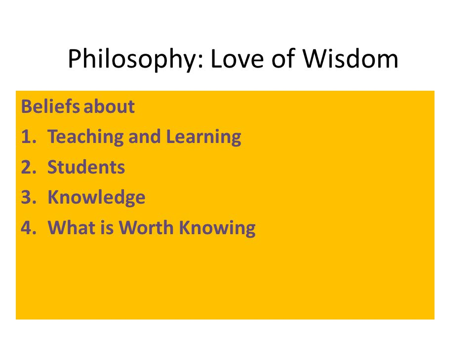 Philosophy On Education Essay