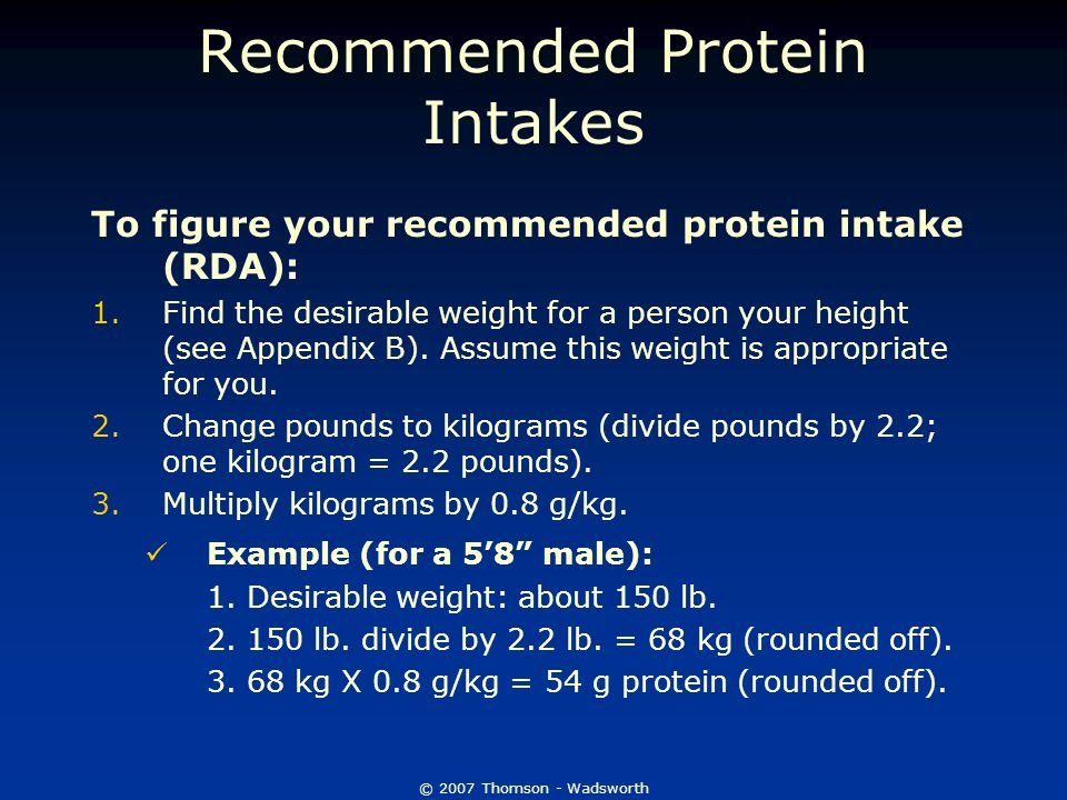 a calculation of the recommended protein intake Protein calculator whey current science suggests the maximum amount of recommended daily protein is - considerations for protein intake in managing.
