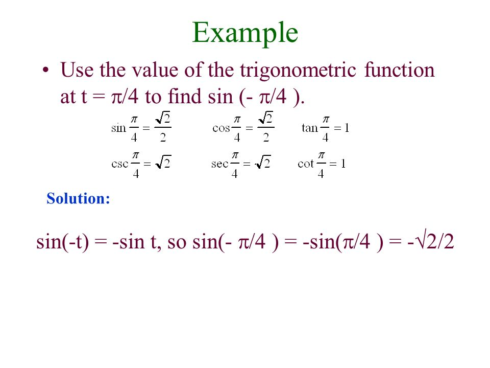 trigonometric functions how to find the a value