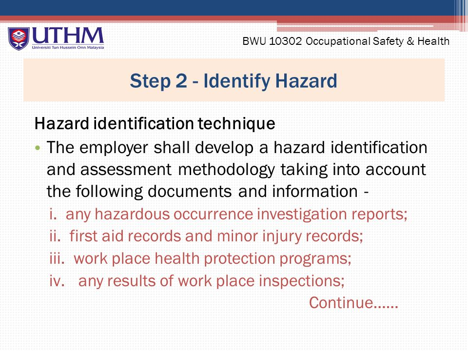 occupational health and safety hazard report Occupational disease reporting form a health hazard evaluation the niosh hhe program may be able to help with a variety of workplace health and safety issues.