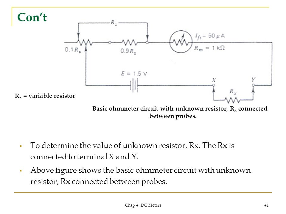 Finding Resistance In Circuit Ohmmeter : Emt electrical system technology ppt download