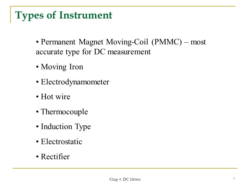 Types Of Electrical Measuring Instruments : Emt electrical system technology ppt download